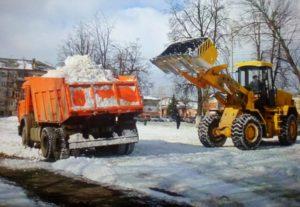 Уборка снега вывоз