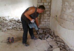 Демонтаж, слом стен, конструкций
