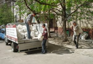 Сбор и утилизация мусора.