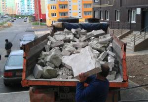 Вывоз строительного мусора с объекта строительства.