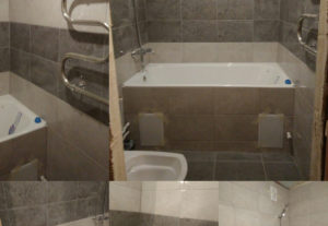 Ремонт санузла, ремонт ванна туалет.