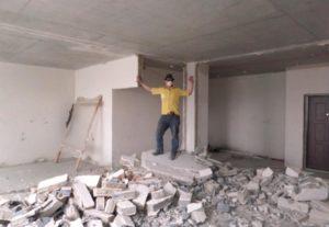 Демонтаж стен в Уфе.