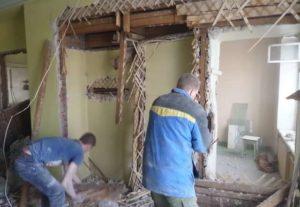 Быстрый демонтаж перегородок в Уфе.
