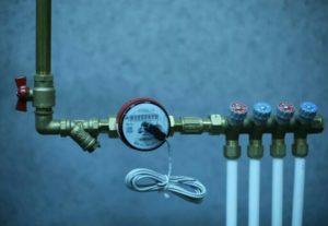 Установка водяных счётчиков