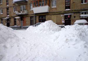 Расчистка территории от снега 🌨️❄️